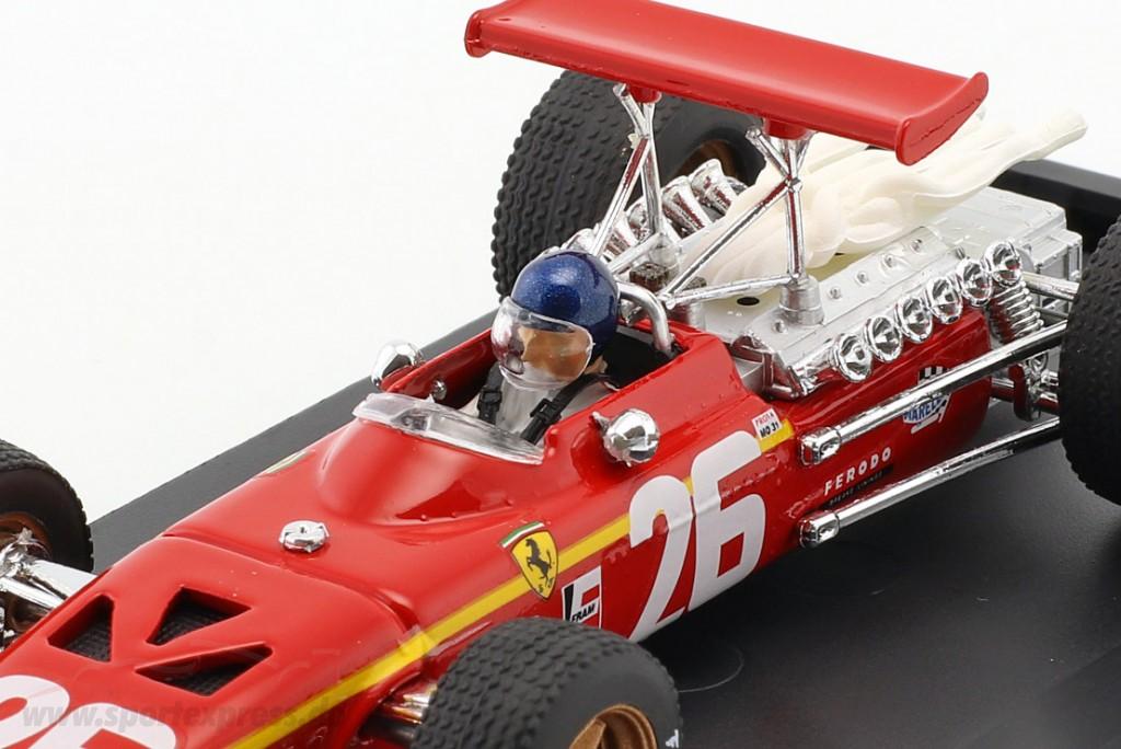 Ferrari 312 F 1 J.Ickx 1968 #26 Winner France Gp Driver 1:43 Model R171CH