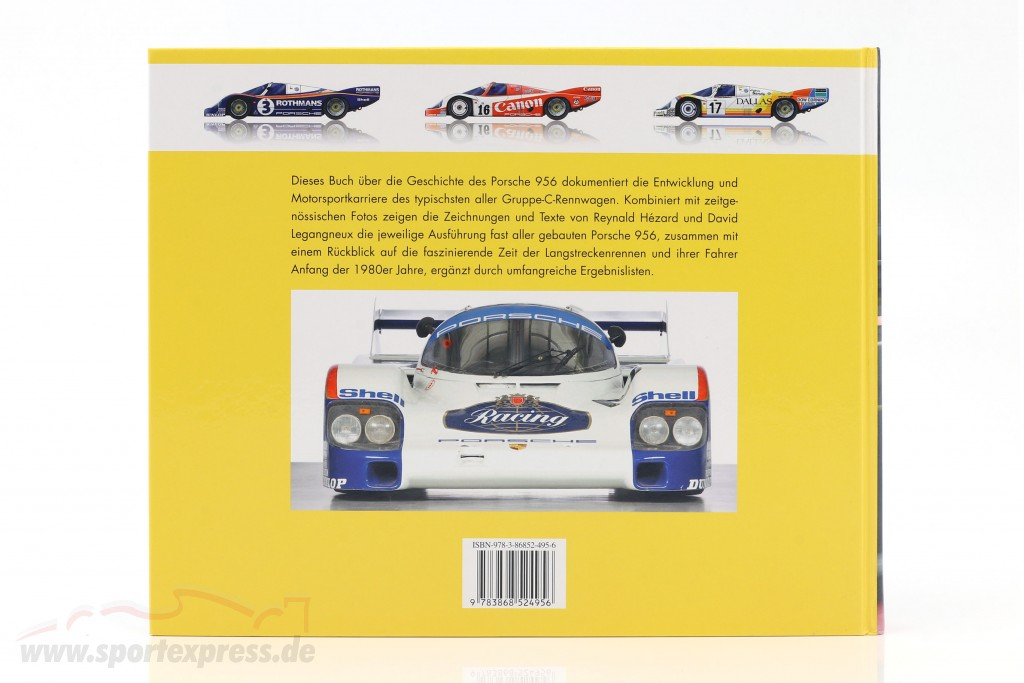 Book: Porsche 956 The Long-distance Champion from Reynald Hezard / D. Legangneux