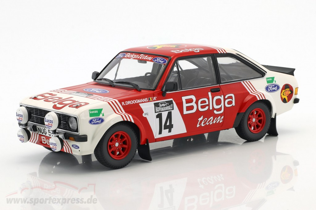 Ford Escort RS 1800 #14 3rd Lotto Haspengouw Rally 1983 Droogmanns, Joosten
