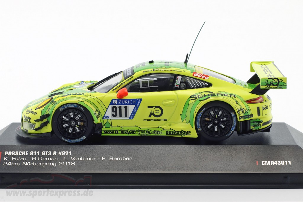Porsche 911 (991) GT3 R #911 Grello Pole Position 24h Nürburgring 2018