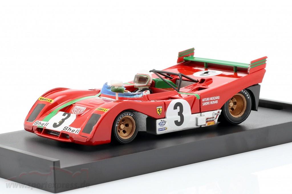Ferrari 312Pb #3 Winner Targa Florio 1972 Merzario Munari Red BRUMM 1:43 R261B M ...