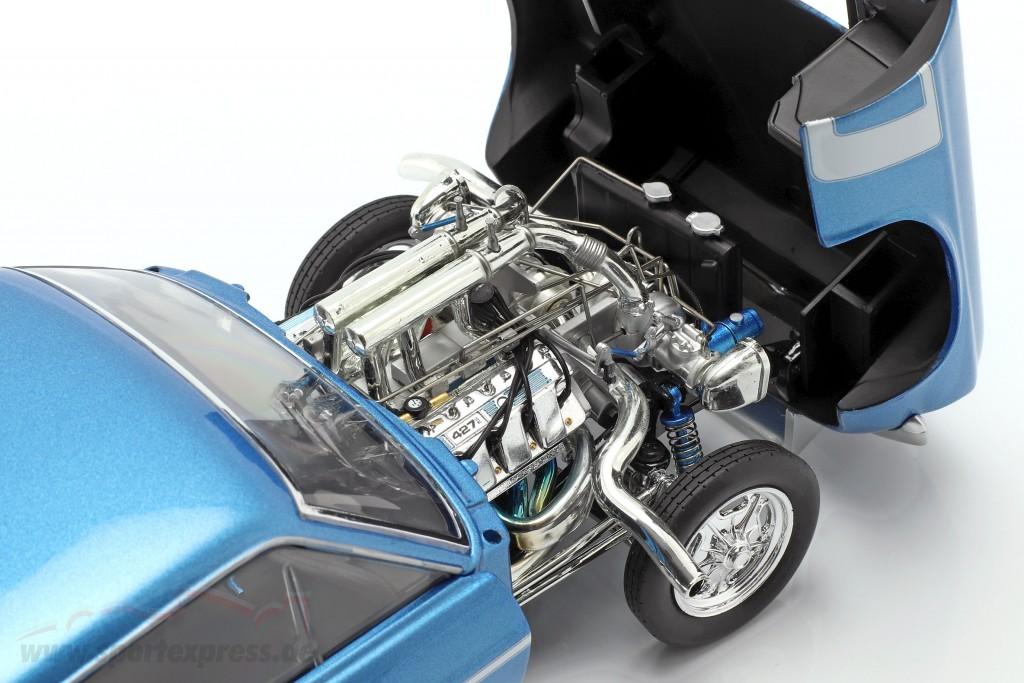 1:18 GMP Ford Mustang Gasser The Boss 1969 bluemetallic