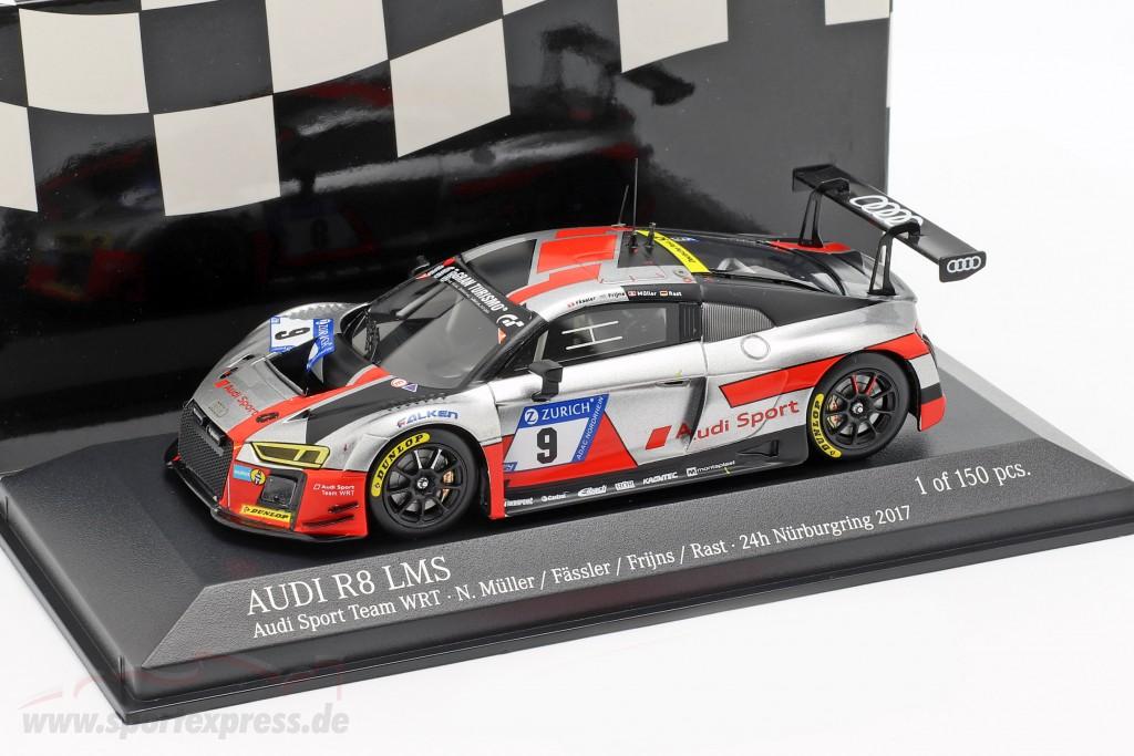 Audi R8 LMS #9 3rd 24h Nürburgring 2017 Müller, Fässler, Frijns, Rast