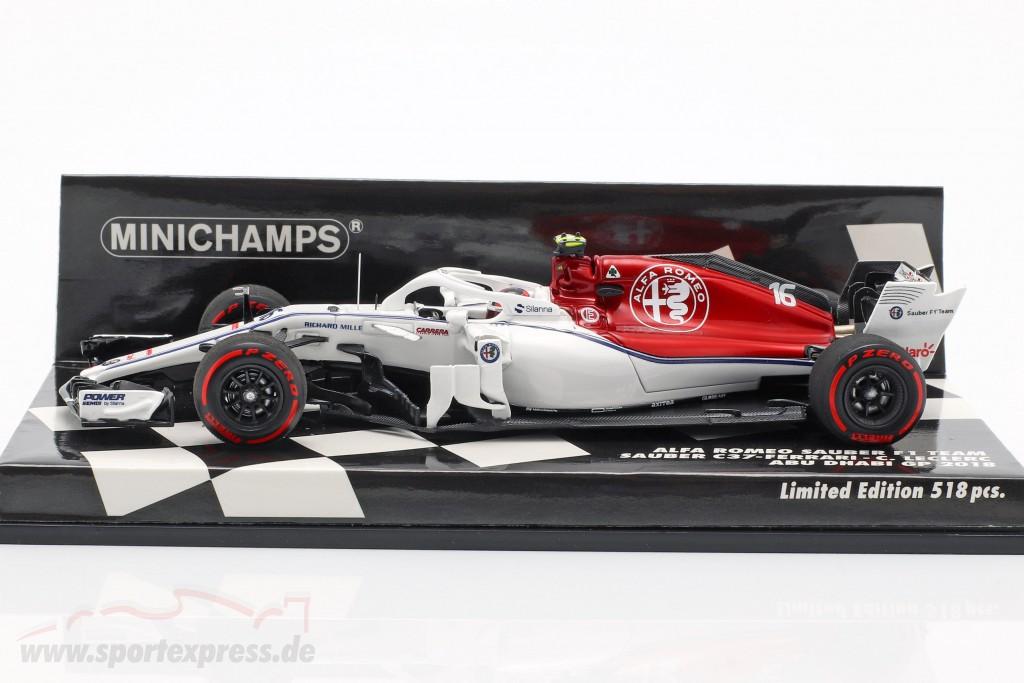 Charles Leclerc Sauber C37 #16 Abu Dhabi GP Formel 1 2018 1:43 Minichamps