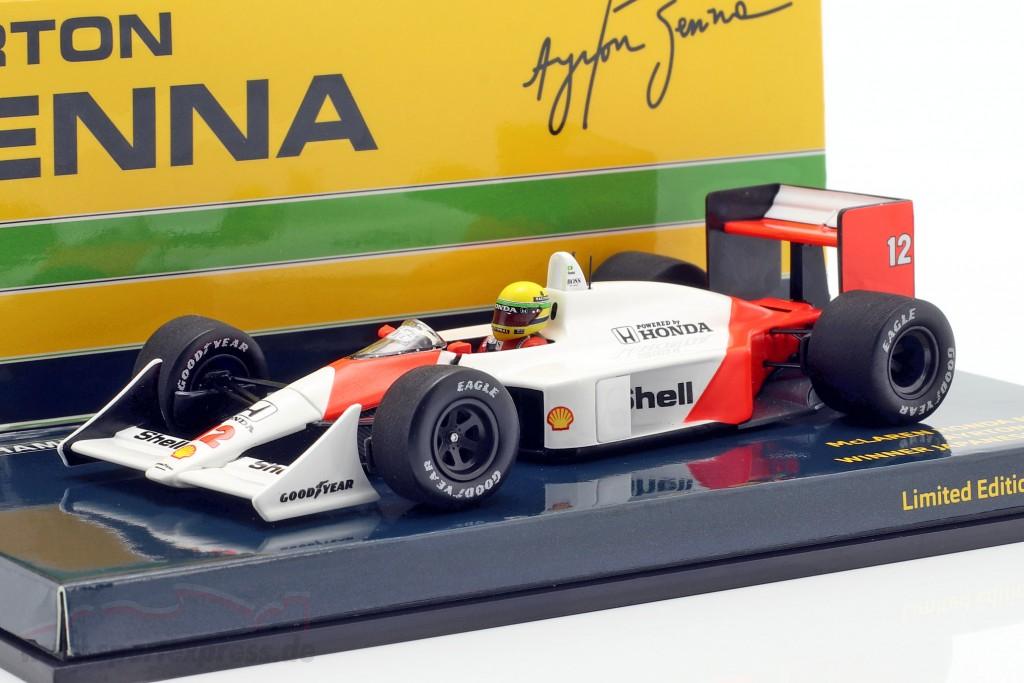 Mclaren mp4//4 honda ayrton senna winner fórmula 1 japón 1988 1:43 Minichamps