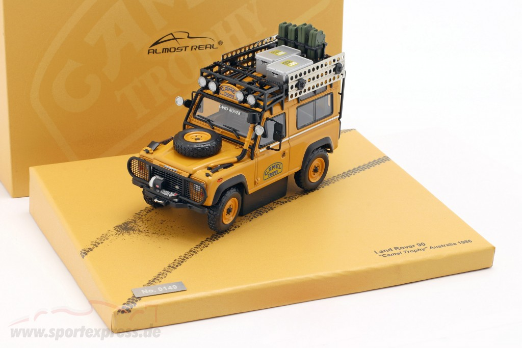 "/""Camel Trophy/"" Australia 1986 Land Rover Defender 90 1:43 Model By Almost Real"