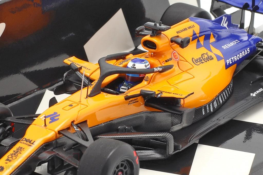 Fernando Alonso McLaren MCL34 #14 Test Bahrain F1 2019
