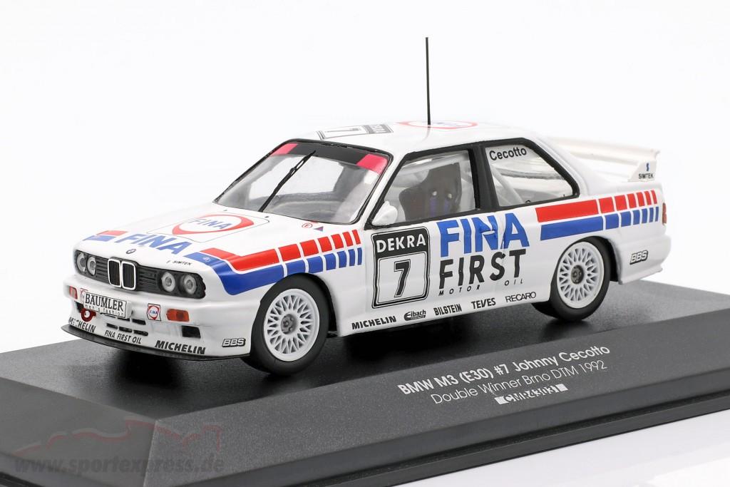 BMW M3 (E30) #7 Double Winner Brno DTM 1992 Johnny Cecotto