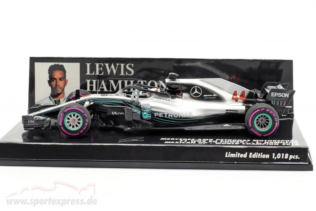 L. Hamilton Mercedes-AMG F1 W09 #44 Weltmeister Mexiko GP F1 2018
