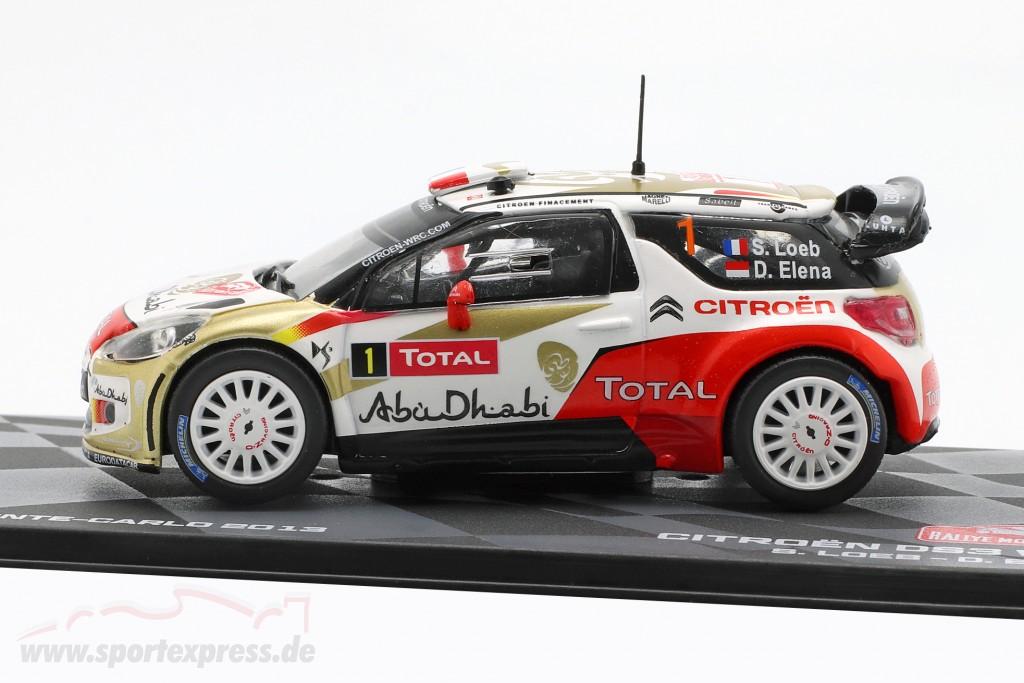 Citroen DS3 WRC #1 Winner Rallye Monte Carlo 2013 Loeb, Elena