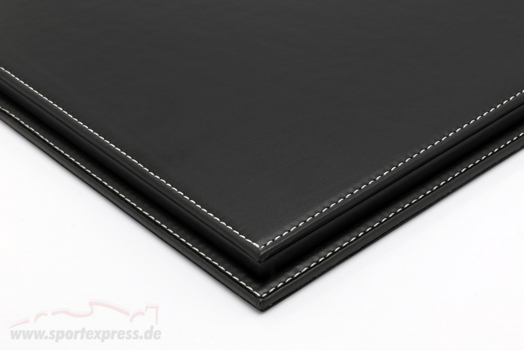 High quality acrylic showcase Mulhouse with leather baseplate black