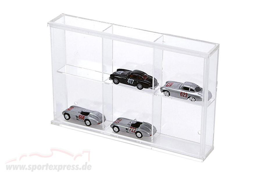 Small Showcase from Acrylic glass 6 shelf 180 x 115 x 30 mm
