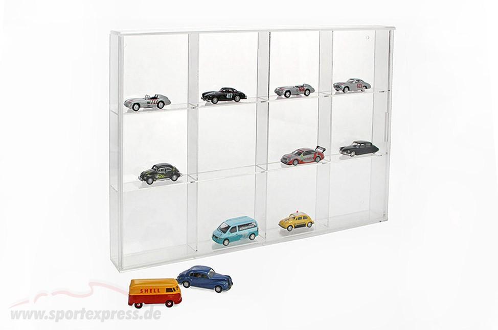 Small Showcase from Acrylic glass 12 shelf 350 x 240 x 45 mm