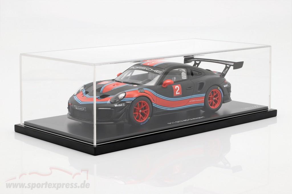 991 II Porsche 911 GT2 RS Clubsport #2 Martini Livery mit Vitrine 1:18 Spark
