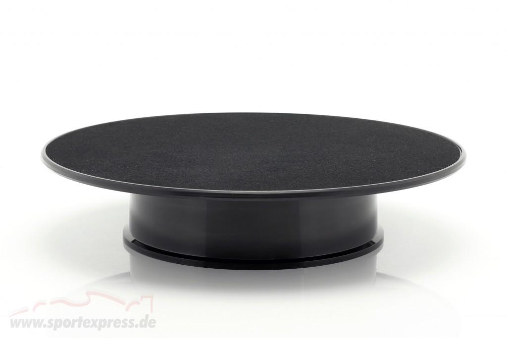 Turntable diameter ca. 25,5 cm for model cars in scale  black