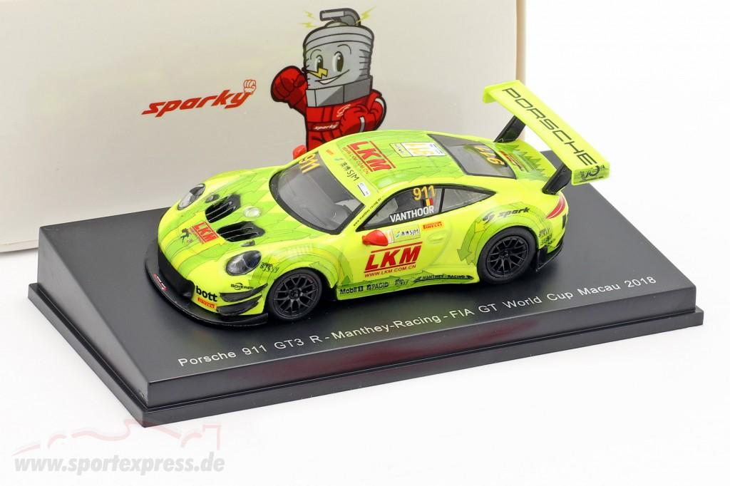 Porsche 911 GT3 R #911 FIA GT World Cup Macau 2018 Laurens Vanthoor