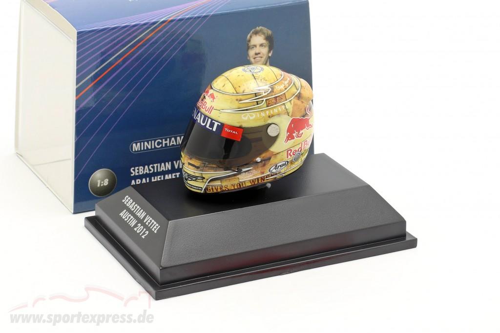 S. Vettel Red Bull RB8 Formula 1 World Champion 2012 GP Austin Texas Helmet