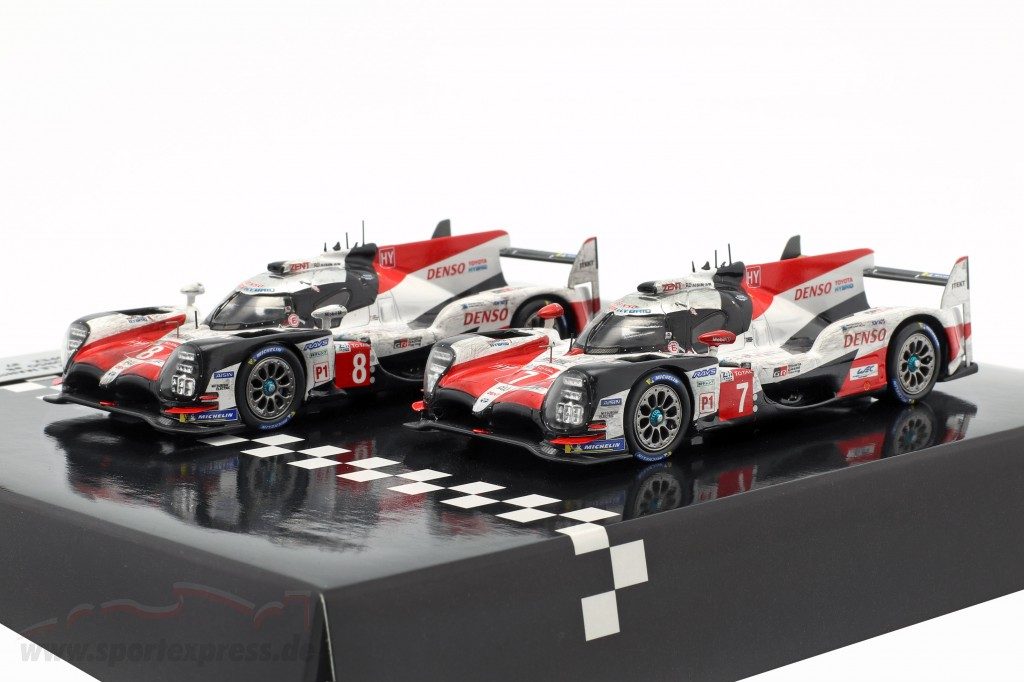 2-Car Set Toyota TS050 Hybrid #8 & #7 finish 24h LeMans 2018