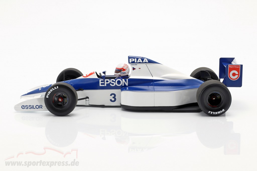 Satoru Nakajima Tyrrell 018 #3 6th USA GP Formel 1 1990