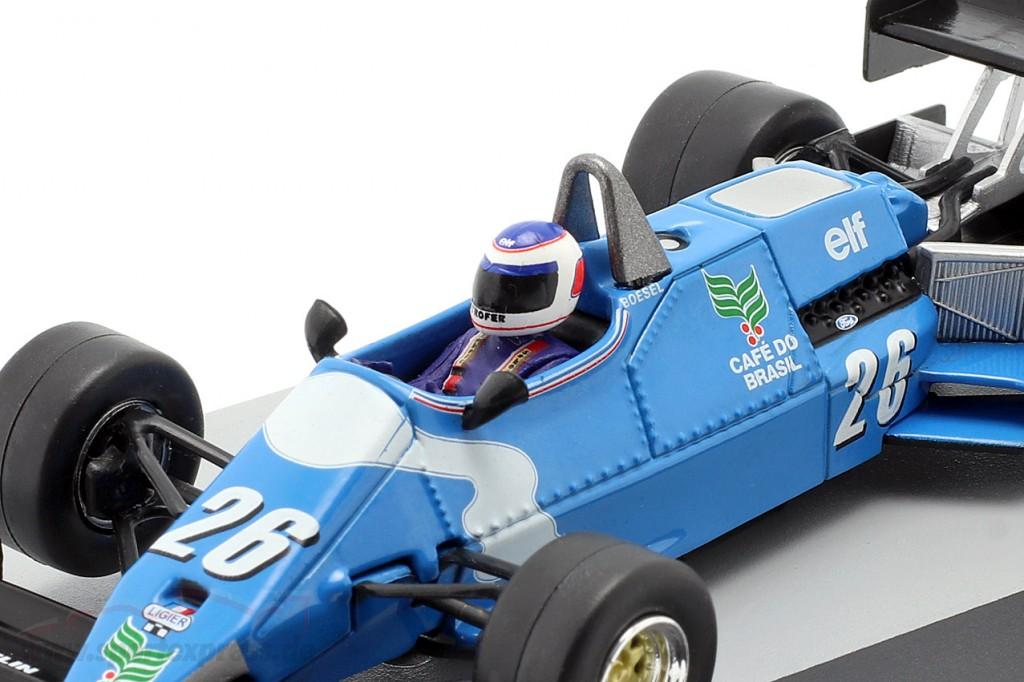 Raul Boesel Ligier JS21 #26 Belgian GP formula 1 1983
