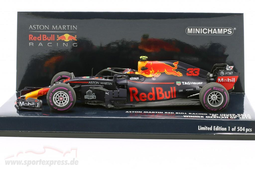 Max Verstappen Red Bull Racing Rb14 33 Winner Mexican Gp F1 2018 410181933 Ean 4012138166318