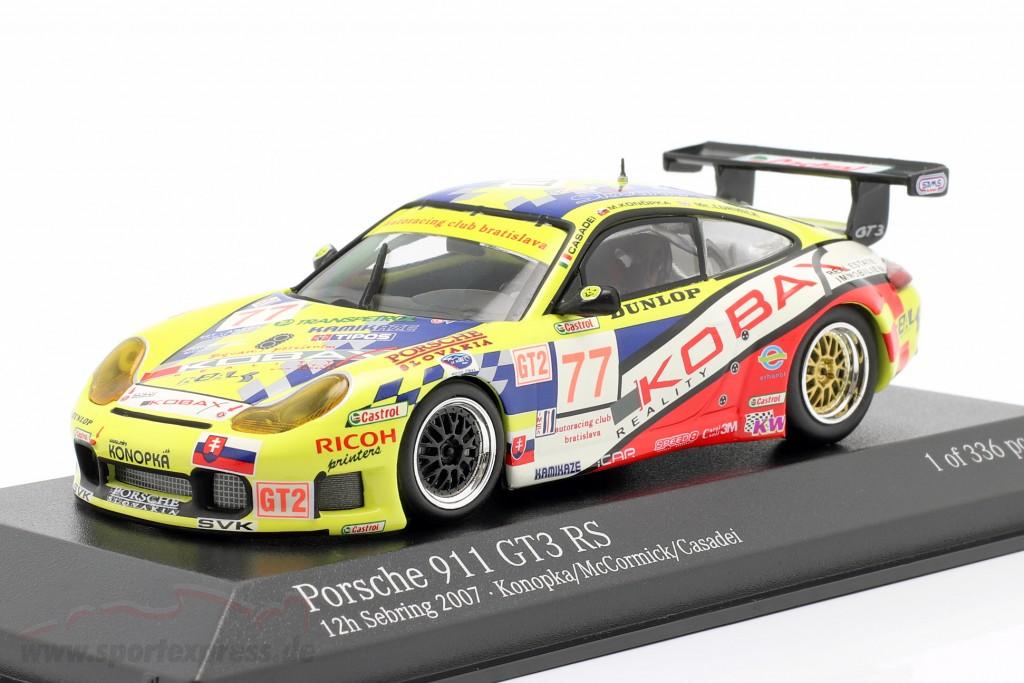 Porsche 911 GT3 RS #77 12h Sebring 2007 Konopka, McCormick, Casadei