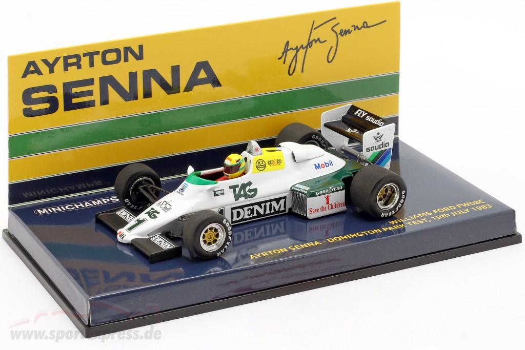Ayrton Senna Williams Ford FW08C #1 Donington Park Test formula 1 1983