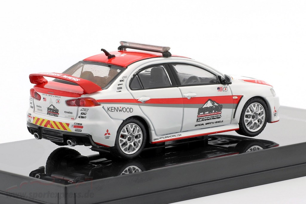 Mitsubishi Lancer Evolution X Pikes Peak Safety Car white / red