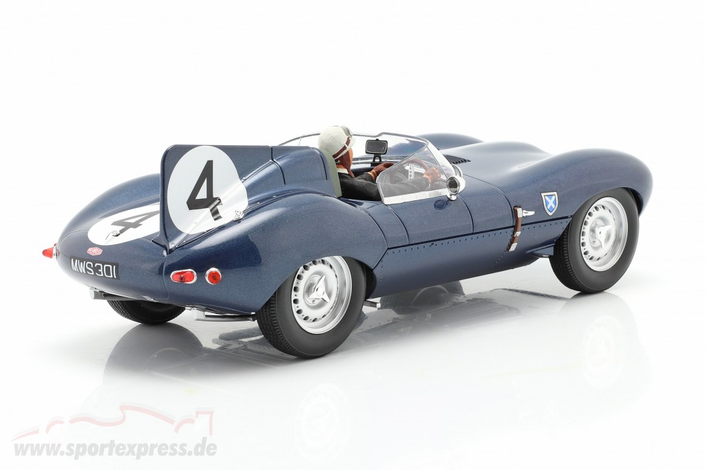 Set: Jaguar D-Type #4 Winner 24h LeMans 1956 with driver figure