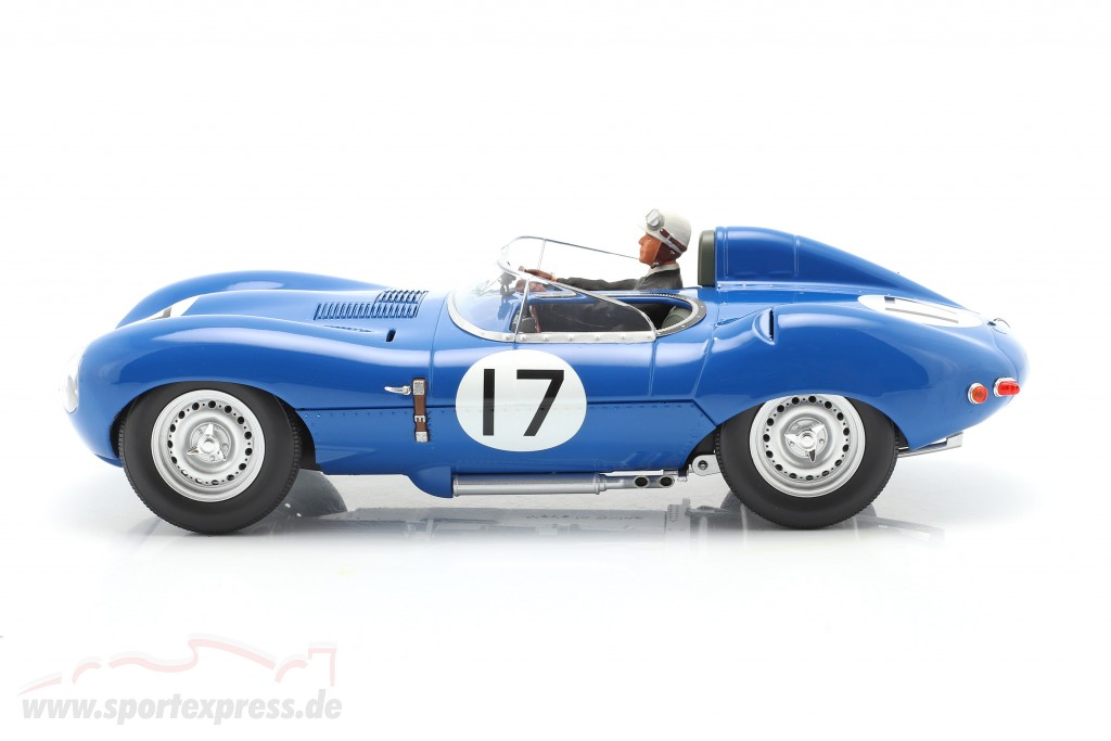 Set: Jaguar D-Type #17 3rd 24h LeMans 1957 with driver figure  CMR