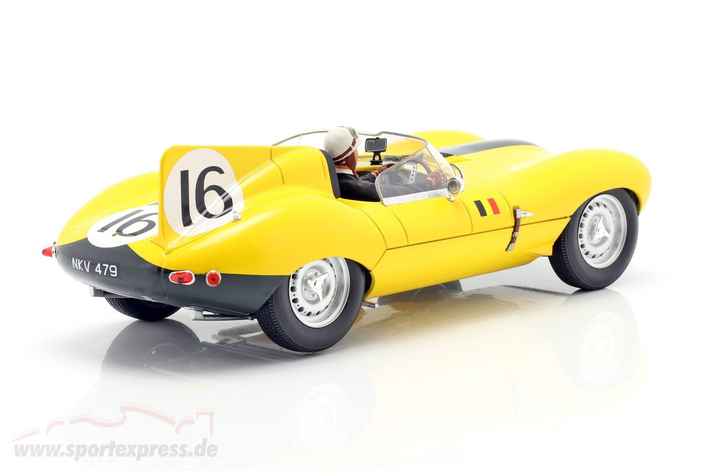 Set: Jaguar D-Type #16 4th 24h LeMans 1957 with driver figure  CMR