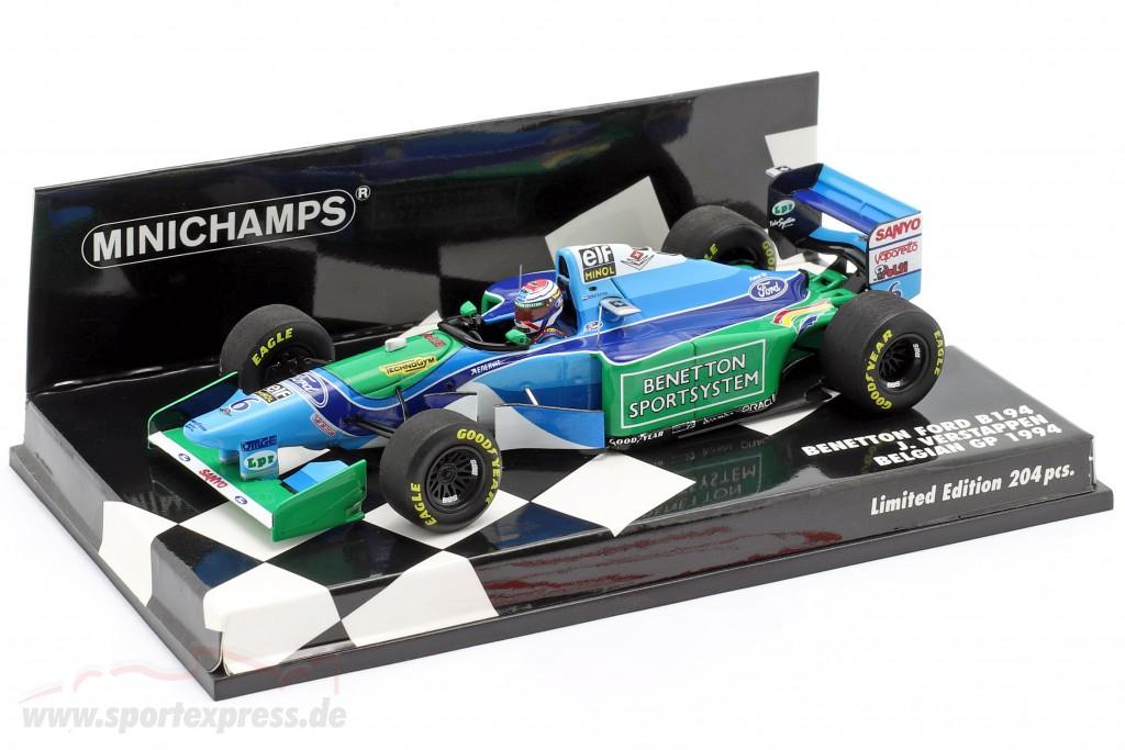 J. Verstappen Benetton B194 #6 Belgium GP formula 1 1994