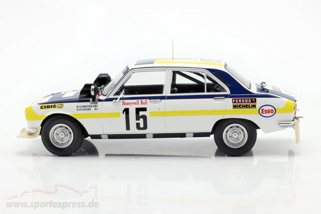 Peugeot 504 Ti #15 2nd Rallye Morocco 1975 Consten, Flocon