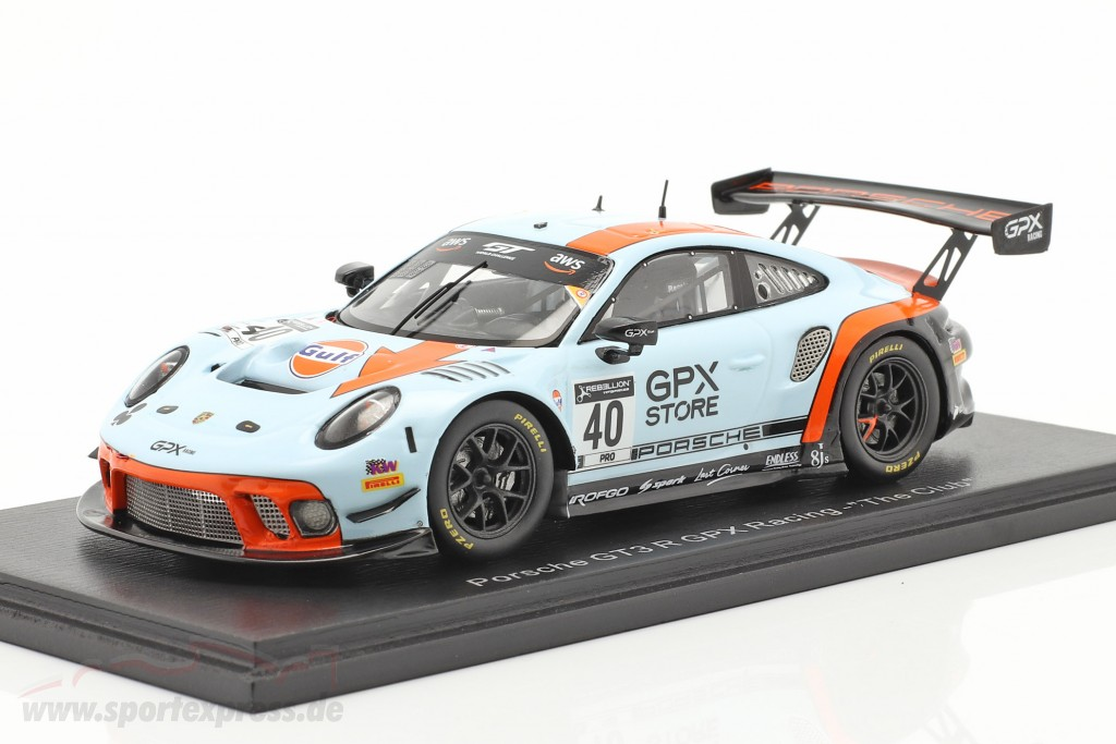 Porsche 911 GT3 R GPX Racing Gulf #40 GT World Challenge 2020