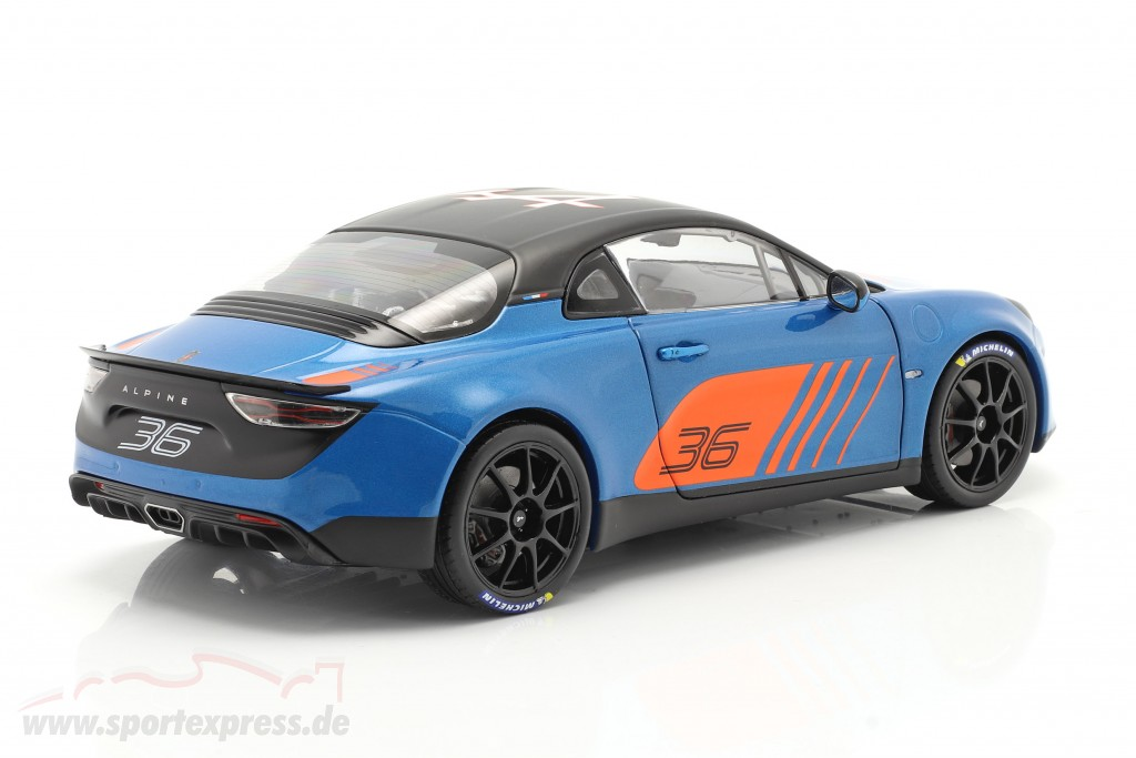 Alpine A110 Cup #36 Launch Livery 2019 blue / orange / black