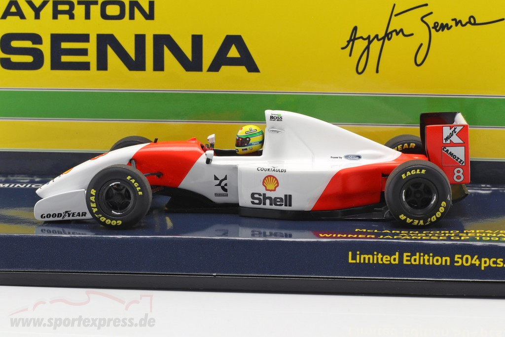 Ayrton Senna McLaren MP4/8 #8 winner Japan GP formula 1 1993