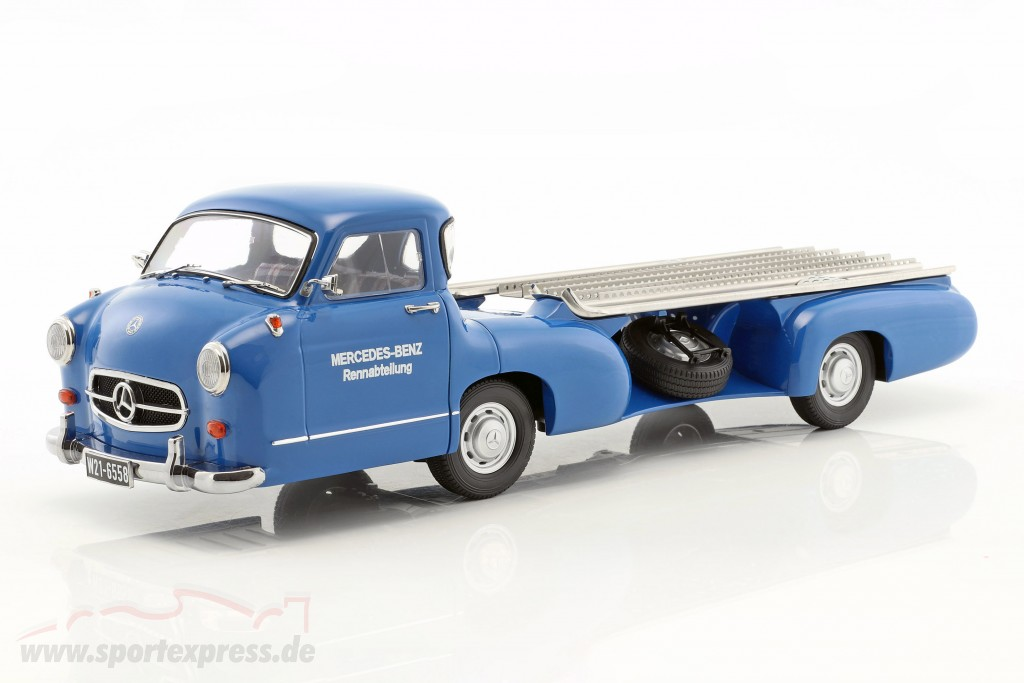 Set: Mercedes-Benz Race Car Transporter Blue wonder With Mercedes-Benz W196