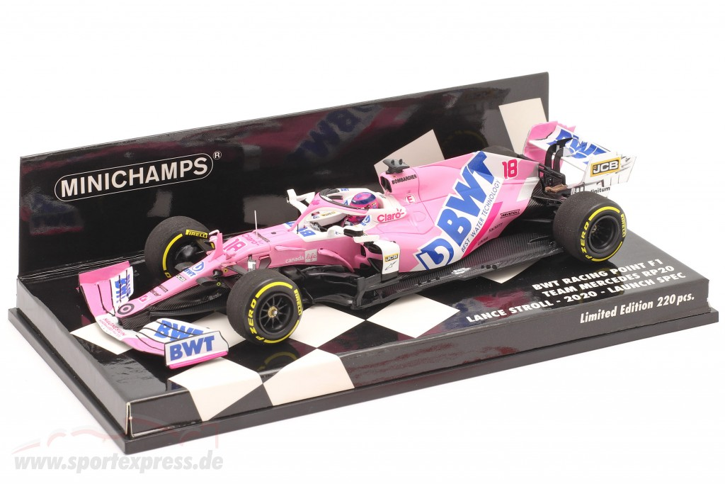 Lance Stroll Racing Point RP20 #18 Launch Spec formula 1 2020