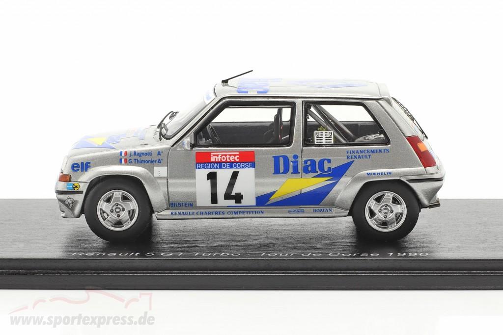 Renault 5 GT Turbo #14 Rallye Tour de Corse 1990 Ragnotti, Thimonier