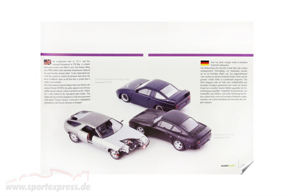 Set Yearbook 2020 with annual model Porsche 928 PES Type 960