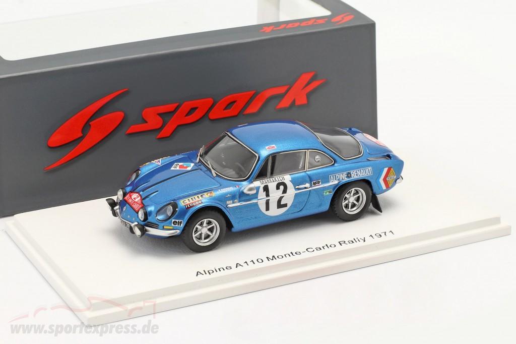 Alpine A110 #12 8th Rallye Monte Carlo 1971 Darniche, Robertet