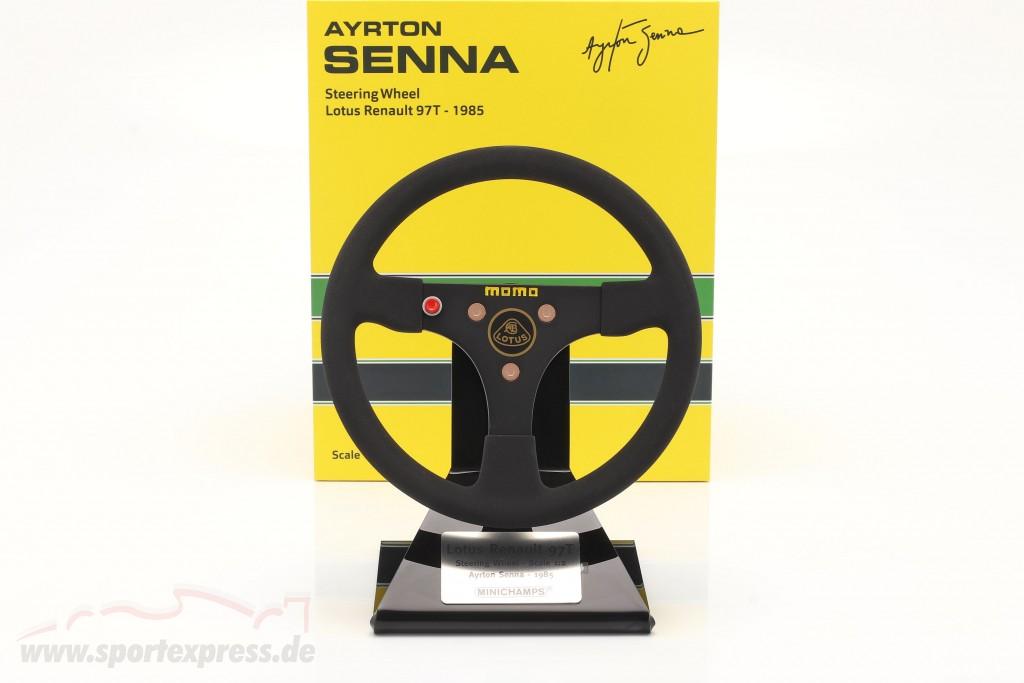 Ayrton Senna Lotus 97T #12 formula 1 1985 steering wheel