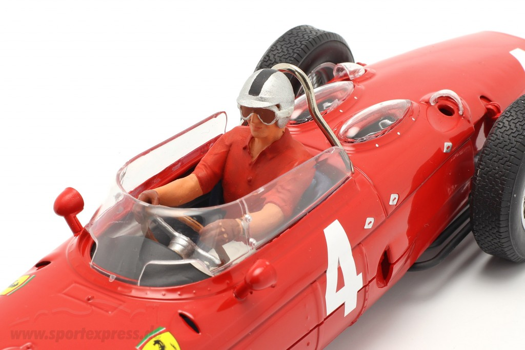 Seated Racer figure with red shirt  FigurenManufaktur