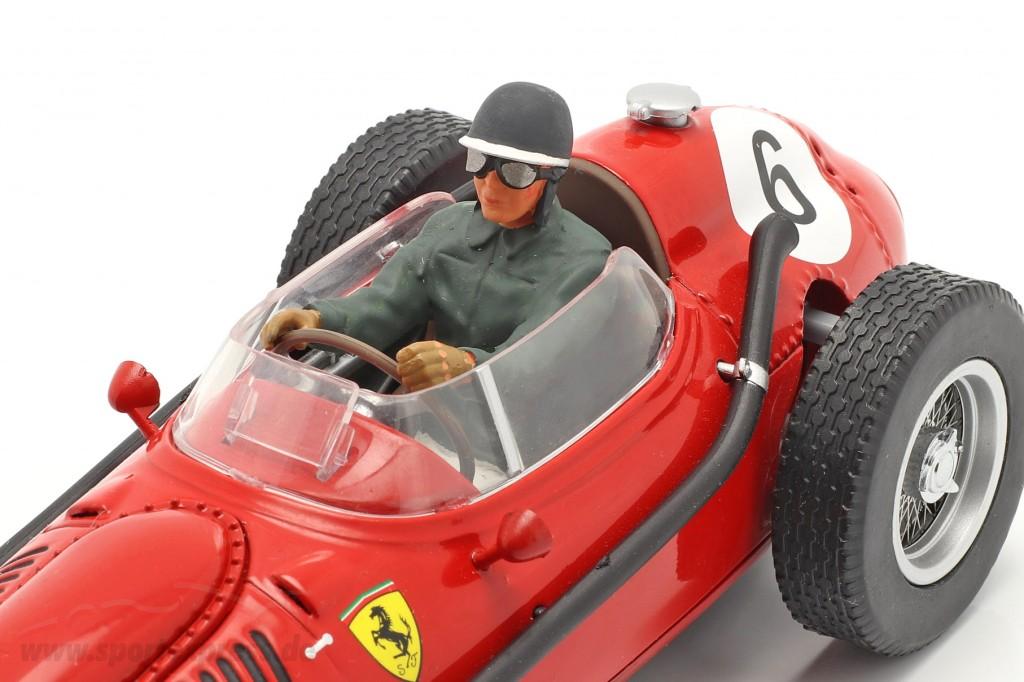 Seated Racer figure with grey green jacket  FigurenManufaktur