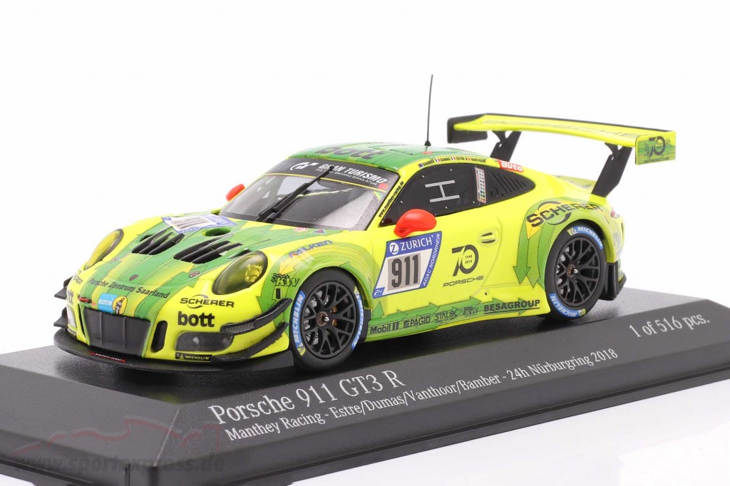 Porsche 911 (991) GT3 R #911 24h Nürburgring 2018 Manthey Grello