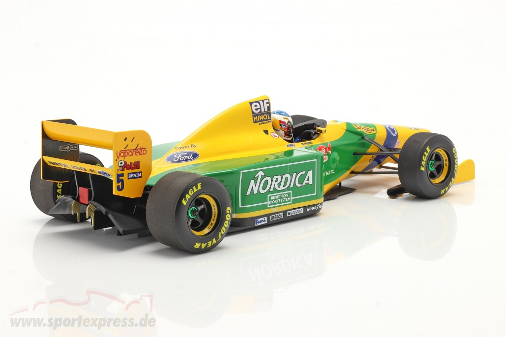 M. Schumacher Benetton B193B #5 Winner Portugal GP formula 1 1993 1:18
