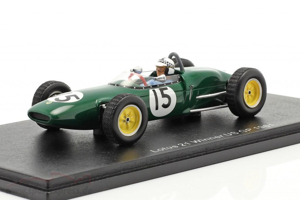 Innes Ireland Lotus 21 #15 Winner USA GP formula 1 1961
