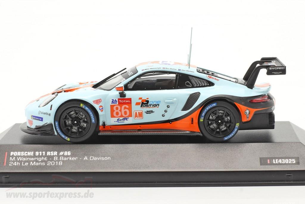 Porsche 911 (991) RSR Gulf #86 24h LeMans 2018