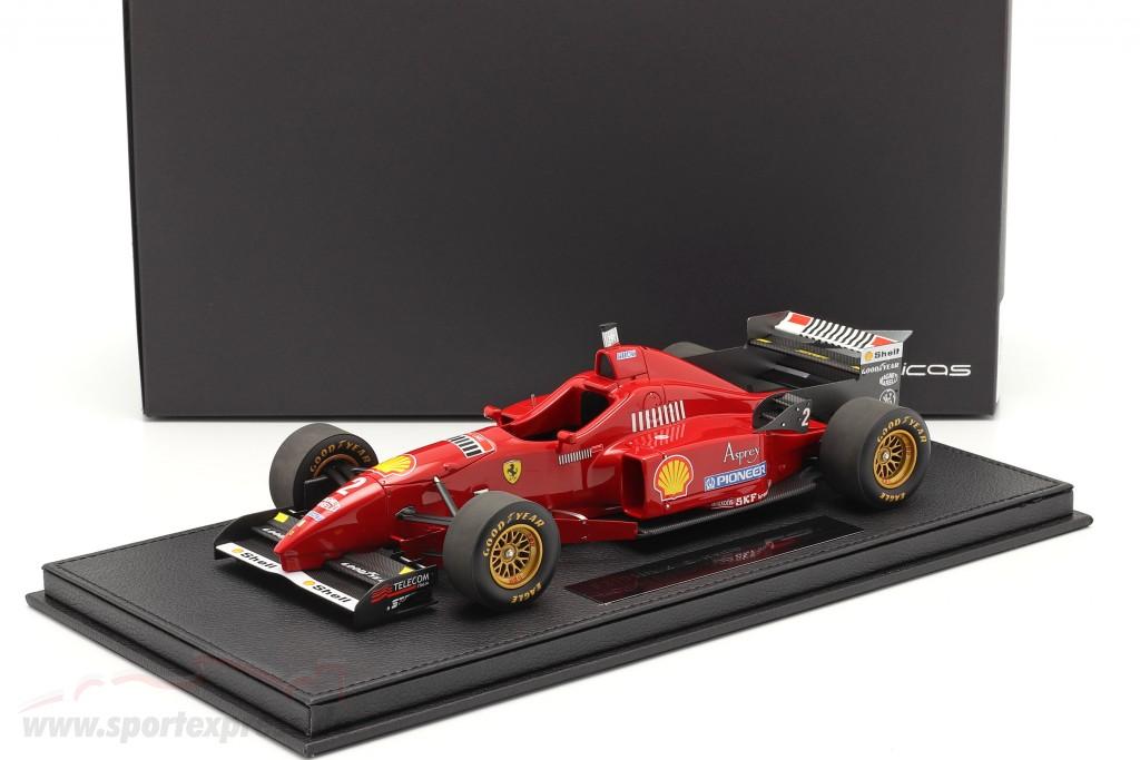 Eddie Irvine Ferrari F310 #2 formula 1 1996 with showcase