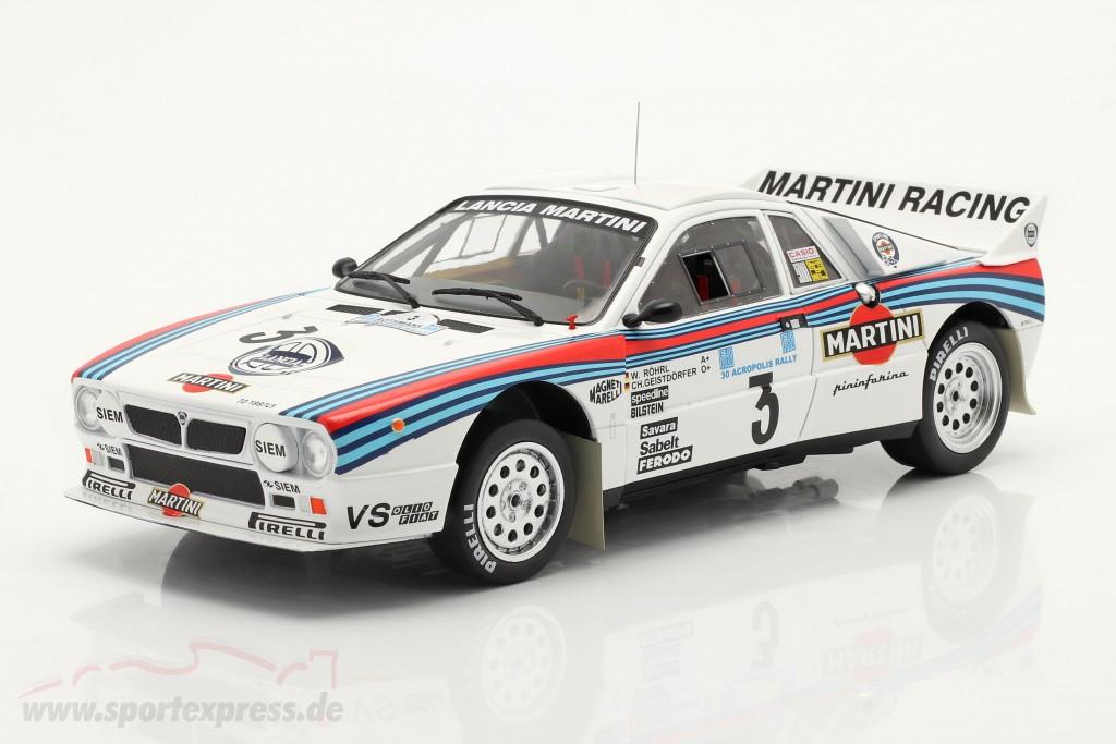 Lancia 037 Rally #3 Winner Rallye Acropolis 1983 Röhrl, Geistdörfer